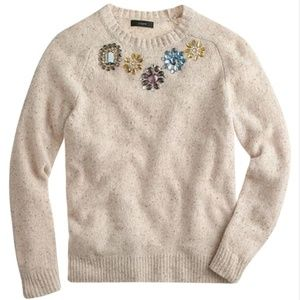 J Crew Jeweled Donegal Lambswool Sweater-Small